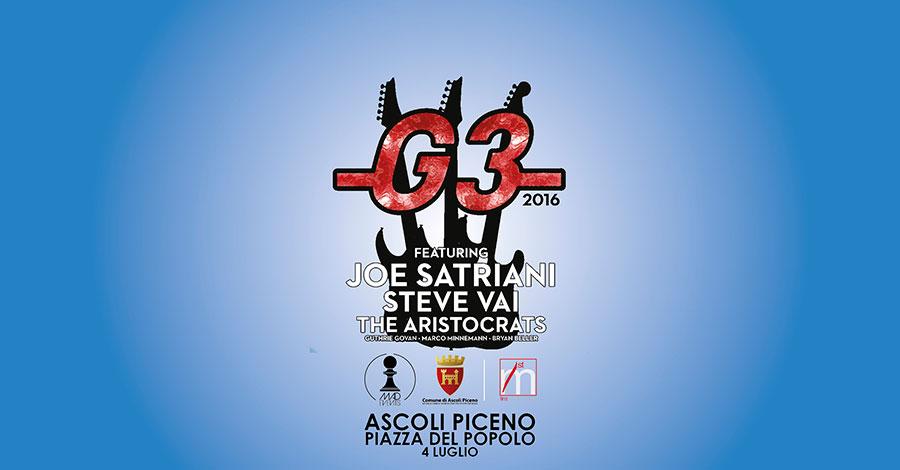 Concerti ad Ascoli Piceno: con il G3 la grande musica va in scena