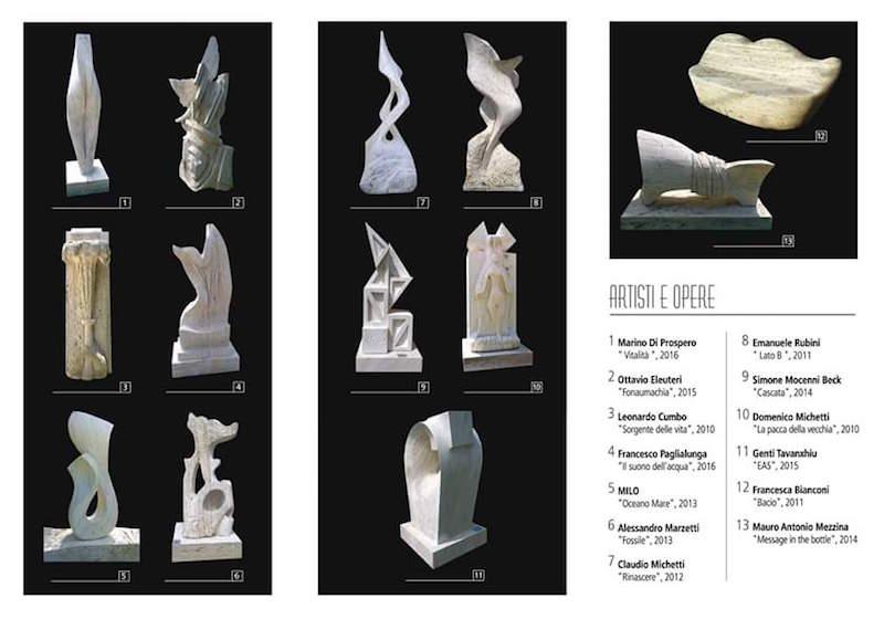 Artisti e opere mostra Le forme del Travertino_Visit Ascoli