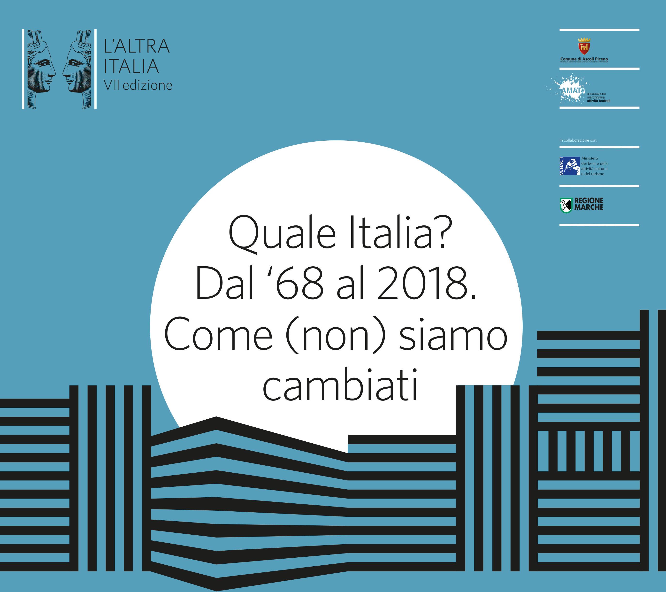Appuntamenti culturali ad Ascoli Piceno: al via la settima edizione de L'Altra Italia